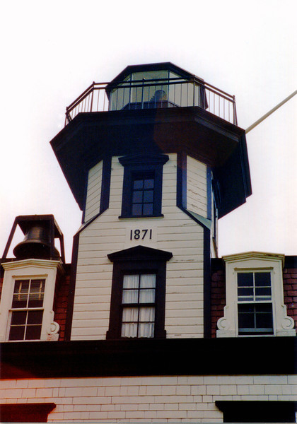 The lantern was fitted with a Sixth Order Fresnel lens which exhibited a fixed red light with a range of 11 miles. The light was located about a mile off Colchester Point and was displayed 35 feet above sea level. Herman Melaney was the first Keeper to light the lamp and he remained at Colchester Reef for 11 years.
