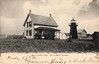 An early postcard view of the Isle La Motte Lighthouse