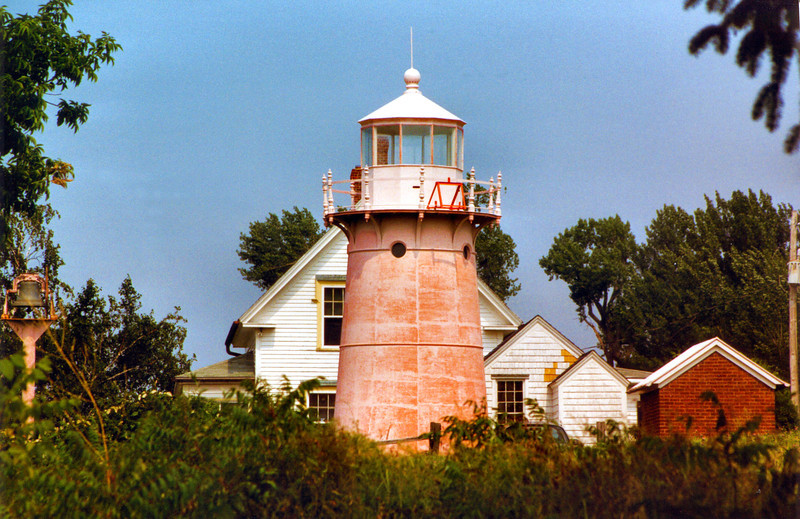 During the Depression, as a cost saving measure, the Lighthouse Service decommissioned several Lake Champlain lights and sold them to private ownership.  The Isle La Motte Light Station was sold in 1933 and the aid was moved to a nearby iron skeleton tower.  In 1949 the property was purchased by the Clark family who maintained a camp nearby.  The Clarks also purchased the Windmill Point Lighthouse a little further north in Alburg, Vermont.