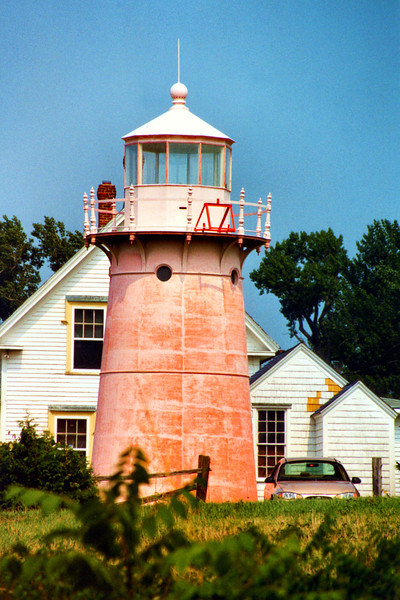 In 1868 The Lighthouse Board recommended the erection of a complete lighthouse station with a dwelling for the Keeper.  After repeated requests in 1879 Congress finally appropriated $5,000 for the project.  In 1880 construction was completed on a 25 foot cast iron tower atop a concrete crib and 1½ story wood frame keepers dwelling.