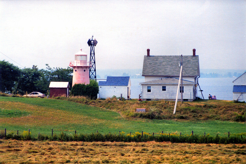 In 1856 the Lighthouse Board purchased a plot of land on Isle La Motte for $50 to erect the first federal aid.  An 18½ foot limestone tower was erected surmounted by a lens lantern.  A local farmer was hired to climb the ladder to the lens and tend the light on a nightly basis.  There were problems however, as the keeper lived a distance away from the light and the lantern would blow out at times.