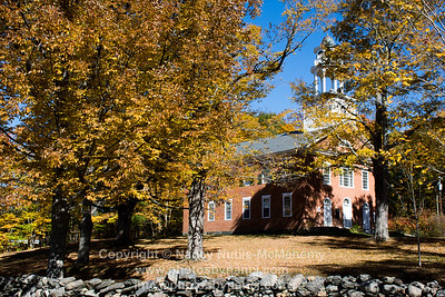 Weathersfield Center Meeting House Fall Foliage 2016