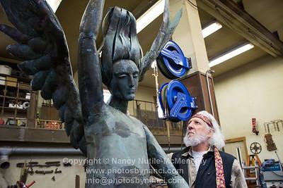 "Jeffrey Sass, Sculptor ""Angel of Bethesda"" Restoration"