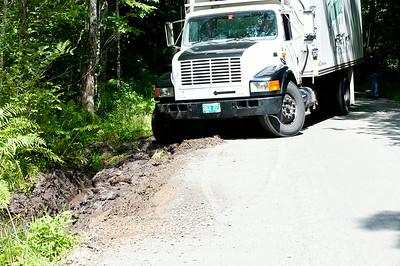 Thomas Milk Truck In A Ditch