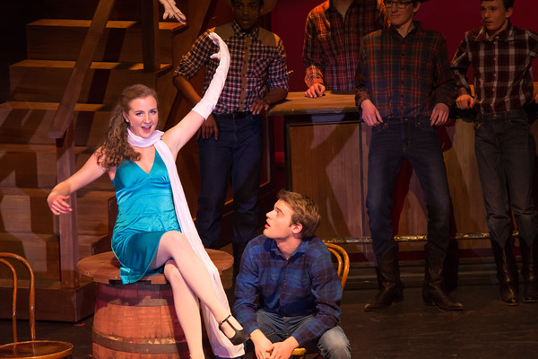 "Irene (Ellie Hackett, left) seduces Lank (AJ DeFelice, right) with the song ""Naughty Baby.""  Nancy Nutile-McMenemy photo."