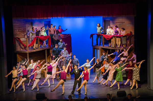 The cast performs a number in the Gaeity Theatre in Deadrock Nevada. Nancy Nutile-McMenemy photo.