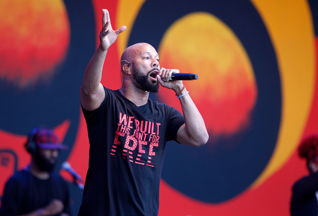 . Common performs in the main arena at the 60th annual Monterey Jazz Festival at the Monterey County Fair and Events Center in Monterey, Calif. on Sunday, Sept. 17, 2017.   (Vern Fisher - Monterey Herald)