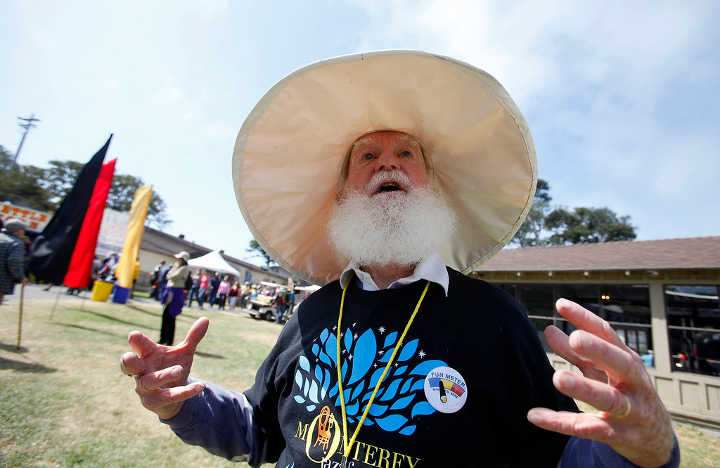 . Paul Aschenbrenner enjoying the 59th annual Monterey Jazz Festival at the Monterey County Fair and Events Center in Monterey, Calif. on Saturday, Sept. 17, 2016.   (Vern Fisher - Monterey Herald)