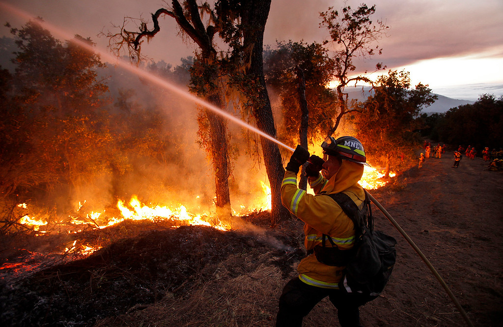 . Cal Fire crews conducted a firing operation west of Cachagua on Tuesday, August 2, 2016.  The Soberanes Fire was 45,800 acres and 25% contained  (Vern Fisher - Monterey Herald)