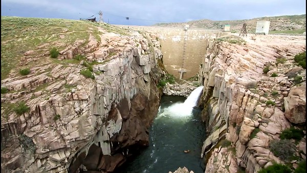 Pathfinder Dam and flume