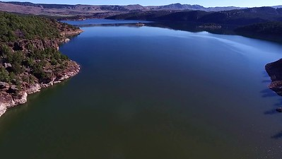 8-Flying over Flaming Gorge Bridge