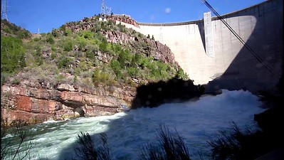 6-In the spray below Flaming Gorge Dam
