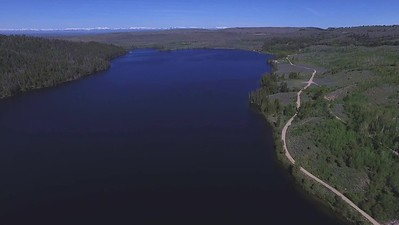 3-Distant peaks from drone's highest altitude at Half Moon Lake