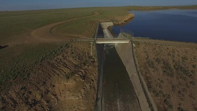 Big Sandy dam and outflow