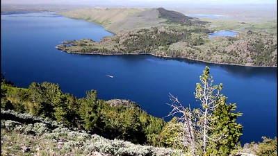 Fremont Lake from Skyline Road near East end of lake