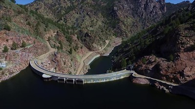 5-Returning over Seminoe Dam