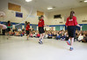 HOLLY PELCZYNSKI - BENNINGTON BANNER Students at Pownal Elementary School watch kids jump rope on Tuesday morning during a visit from Vernon Elementary School students.