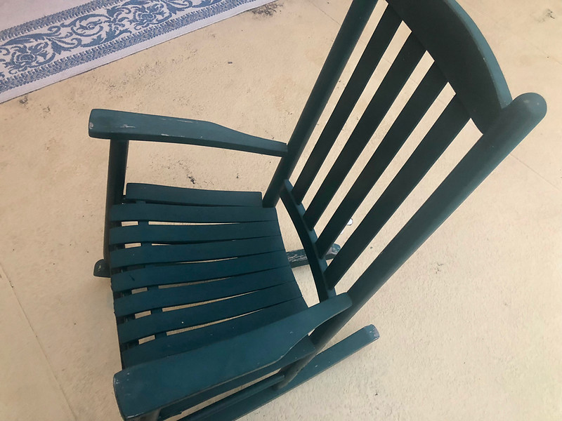 Green Wood Rocking Chair