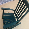 Green Wood Rocking Chair