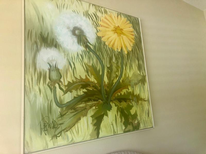 Original Lee Reinolds Dandelion Painting