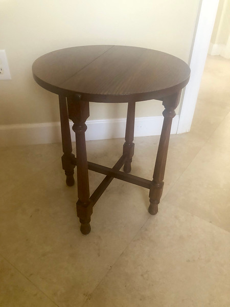 Wood Round Plant Stand Utility Table