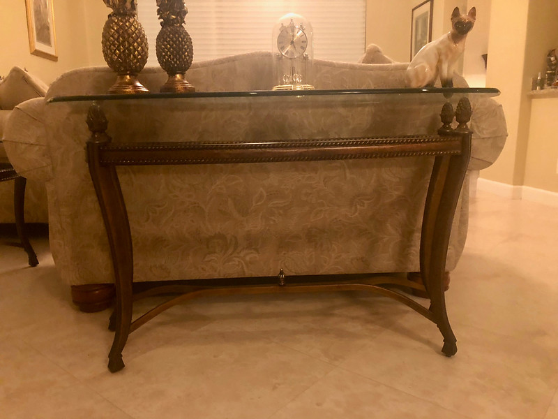 Glasstop Sofa Table