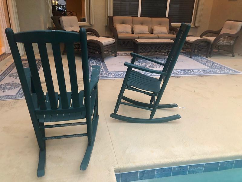 Green Wood Rocking Chairs