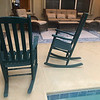 Green Wood Rocking Chairs