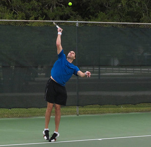 Brian having a good time at Vero Beach's Riverside Tennis Club