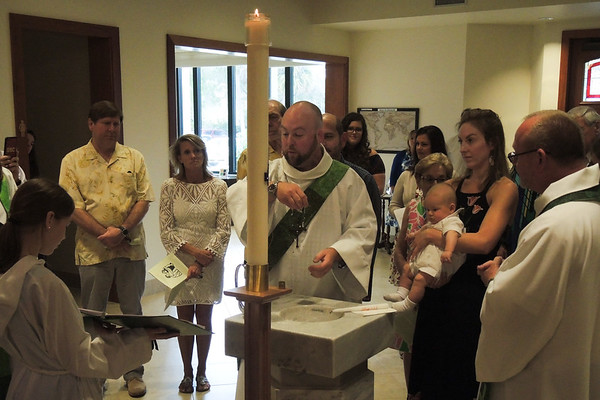 February 19, 2017. Baptism for August James Gall at Our Saviour Lutheran Church in Vero Beach.