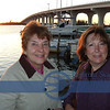 Trudy and Paula, before dinner-this is the new bridge, we and half of Vero Beach residents seem to walk over all the time..