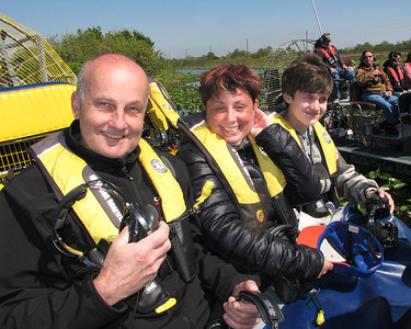 Vero Beach's Captain Bob's Very good Airboat Adventure Tour on March 9, 2013