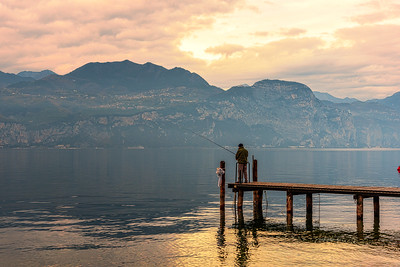 Fisherman at Lake Garda.