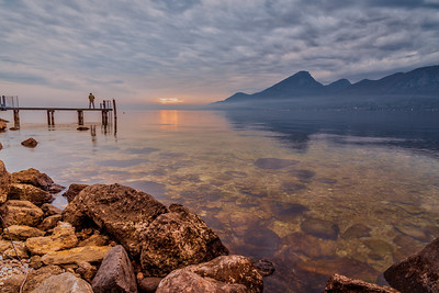 Lake Garda at sunset.