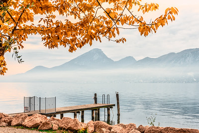 Autumn at Lake Garda.