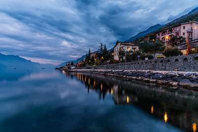 Lake Garda during blue hour
