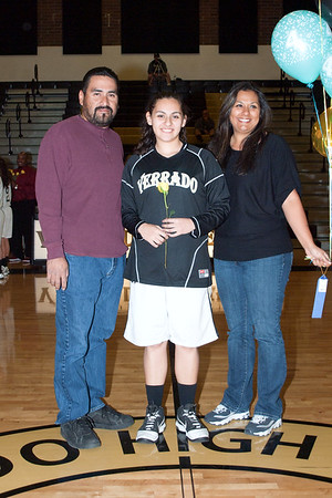 Basketball Lady Viper Senior Night 2011