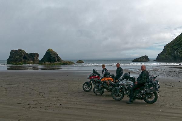 Am Morgen sind wir zu einem Strand süd-östlich von Ancud gefahren. Von dort aus kann man Pinguinkolonbien besichtigen.