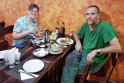 Am letzten Tag in Salta sind wir noch einmal schön Essen gegangen. War ein toller Urlaub!