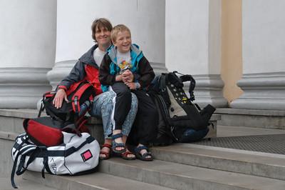 Wir warten auf den Zug in Ekaterinenburg.