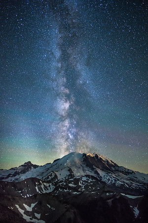 Mount Rainier Milky Way Rising (Vertical)