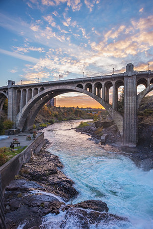 Monroe Bridge Cloudscape