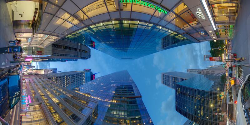 One Bryant Park, 42nd and Avenue of the Americas, Blue Hour, Vertical Vertigo NYC Series