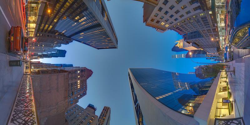 57th and 5th Avenue, Solow Building, Blue Hour, Vertical Vertigo NYC Series