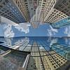 Chrysler Building with reflection in Grand Hyatt New York on 42nd, Afternoon, Vertical Vertigo NYC Series