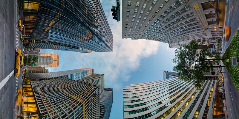 Park Avenue and 49th Street, Morning Golden Hour, Vertical Vertigo NYC Series