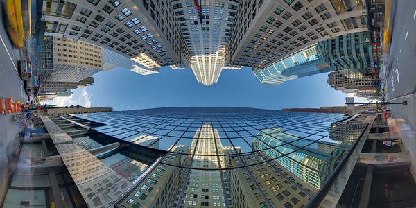 Chrysler Building, Reflection in Grand Hyatt New York, Afternoon, Vertical Vertigo NYC Series