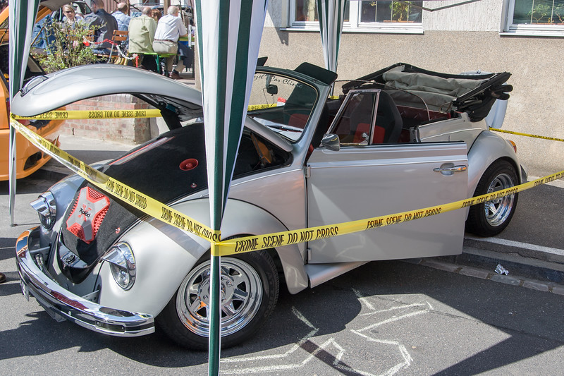 Tuned VW Käfer Cabrio, old beetle, at Car Spring Schnaittach