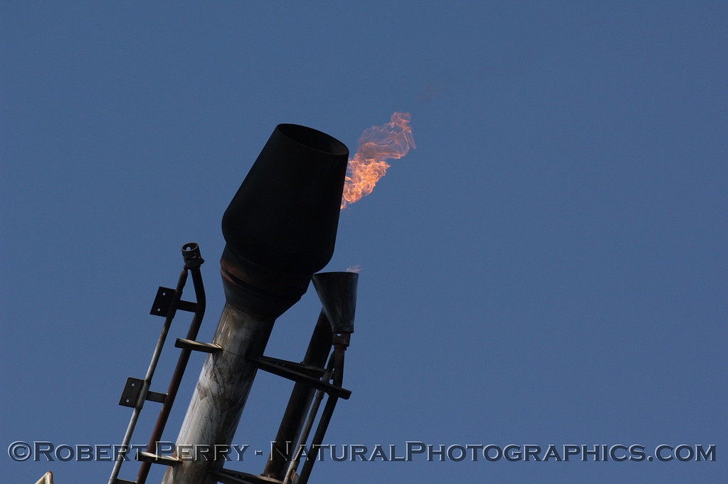 Olympic Torch?  No, it's the gas burn-off torch on Platform Holly.