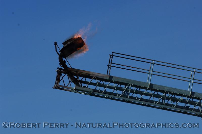 Gas burn off Platform Hillhouse, Santa Barbara Channel.